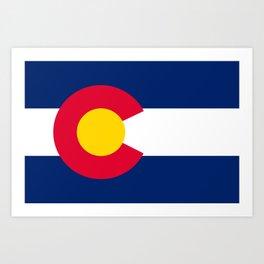 Flag of Colorado Art Print