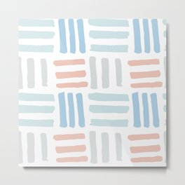 Pastel blocks Metal Print