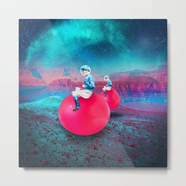 Space Hoppers Metal Print