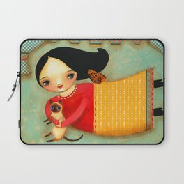 Siamese Cat Angel sweet collage painting by Tascha Laptop Sleeve