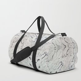 White marble with black streaks Duffle Bag