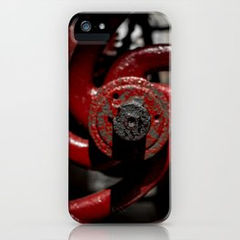 Red Valve iPhone Case