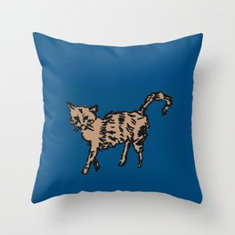 Animal Series - Scrappy Cat Throw Pillow
