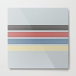 Michiharu - Classic 90s Retro Stripes Metal Print