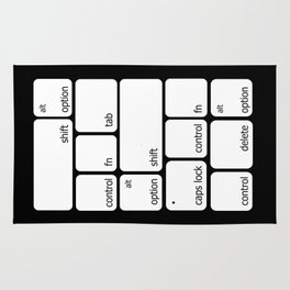 Keyboard Commands Rug