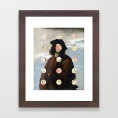 A Portrait With Dots 3 Framed Art Print