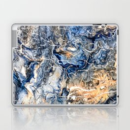 Breaking Waves Abstract Painting Laptop & iPad Skin