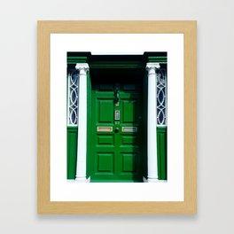 green door, Ireland Framed Art Print