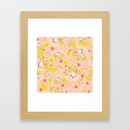 Energizing spring summer flowers Framed Art Print