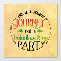 the hobbit Canvas Prints featuring Hobbit Party by Purrito Press