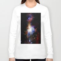 nebula Long Sleeve T-shirts featuring Orion NebulA Colorful Full Image by 2sweet4words Designs