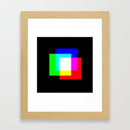 RGB Squares Framed Art Print