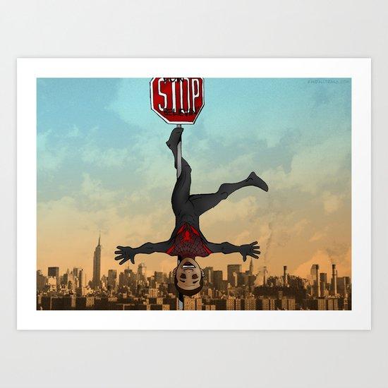 Miles Morales, Ultimate Spider-Man Art Print