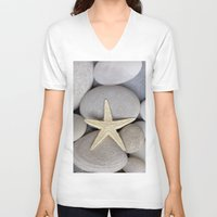 starfish V-neck T-shirts featuring Starfish by LebensART Photography