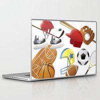 sports Laptop & iPad Skins featuring sports! by Dues Creatius