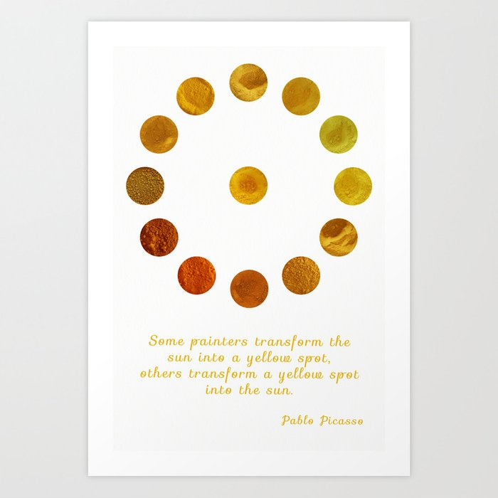 Yellow Pigments Art Print