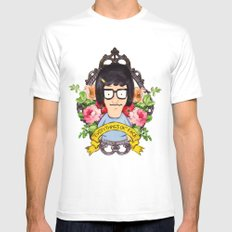 Tina - Everything's ok face  White Mens Fitted Tee MEDIUM