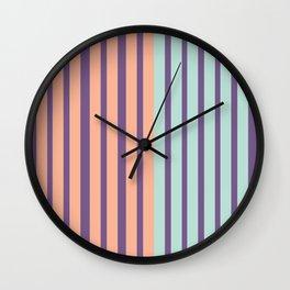 Minimal Abstract Apricot Purple SeaGreen 13 Wall Clock