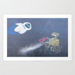 wall-e & eve Art Print