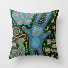 Rabbit Talk Throw Pillow