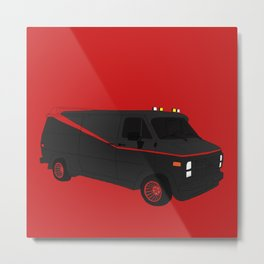 The A-Team Van Metal Print