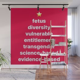 Banned Words for the Holiday Season Wall Mural