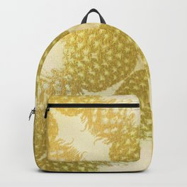Gold Pineapple Pattern - Gold Fruit - Sunshine Pineapple Backpack