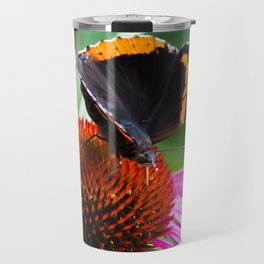 Red Admiral Butterfly Travel Mug