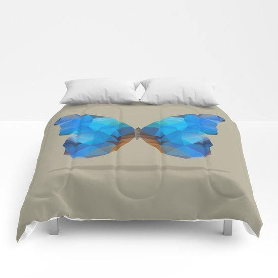Blue Butterfly Comforters