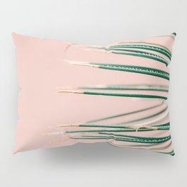 Green on Coral   Botanical modern photography print   Tropical vibe art Pillow Sham