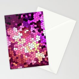 Purple rhapsody stained glas Stationery Cards