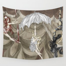Midnight Circus: the Acrobats Wall Tapestry
