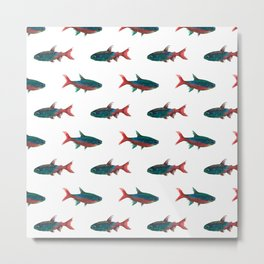 Fish Patten 2 Metal Print
