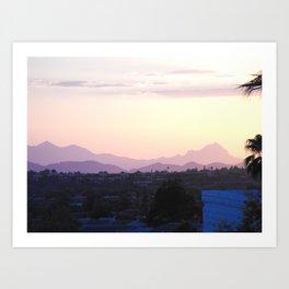 Carboard Mountains at Sundown #2, Tucson, Arizona Art Print