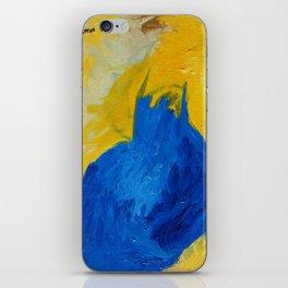 Blue in Yellow iPhone Skin