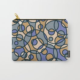 Retro Circles Background Pattern Cutest Carry-All Pouch