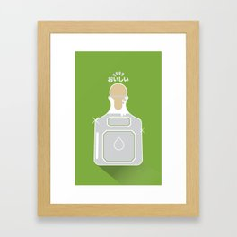 In My Fridge - Tequila Framed Art Print