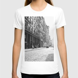 Soho - New York City - Afternoon Light and Cobblestones T-shirt