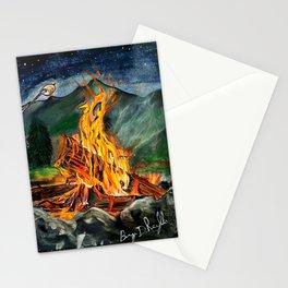 'Life Goals' Original Campfire Pastels Art - by Dark Mountain Arts Stationery Cards