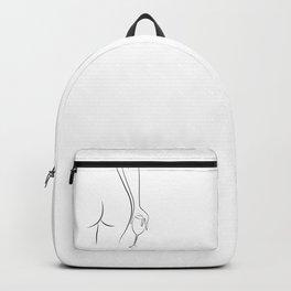 Booty & Wine o'clock Drawing - Curvy Line Art Backpack