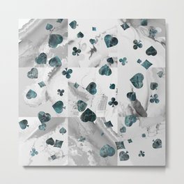 Luxury Marble Suits Pattern Digital Art Metal Print