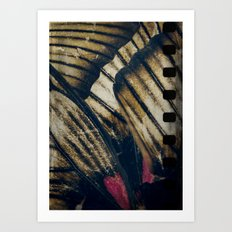 Butterfly wings abstract Art Print