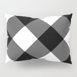 black and white 3 Pillow Sham