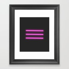neon lights Framed Art Print