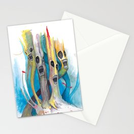 Barbershop Quartet of Evil Trees Stationery Cards