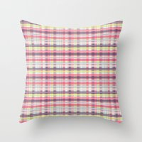 plaid Throw Pillows featuring Plaid by Livia Rett