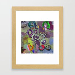 Living In A Purple Dream - Abstract, eclectic, random, purple. lilac, pastel artwork Framed Art Print