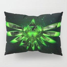 Zelda Triforce Green Space Pillow Sham