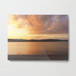 Sunset Over the Viaduct Metal Print