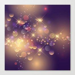 Festive Sparkles in Purple Canvas Print